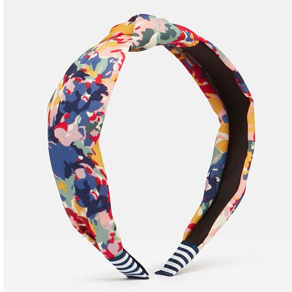 Joules Blue Floral Lovett Printed Headband