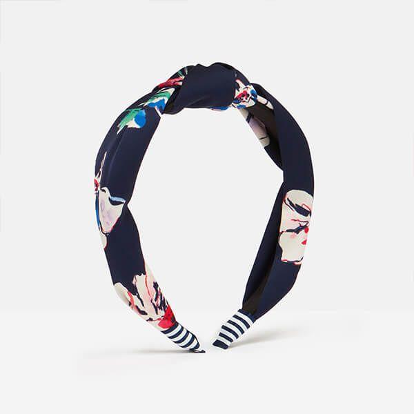 Joules Navy Floral Lovett Printed Headband