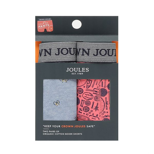 Joules Bike Crown Joules Pack of Two Underwear
