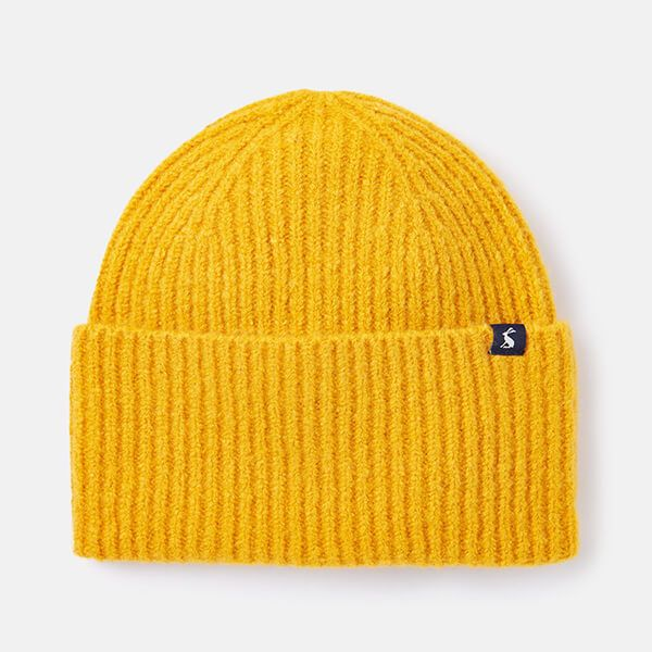 Joules Gold Vinnie Knitted Hat