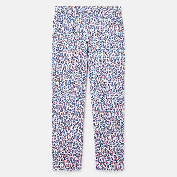Joules Lilac Leopard Slumber Cotton Pyjama Bottoms