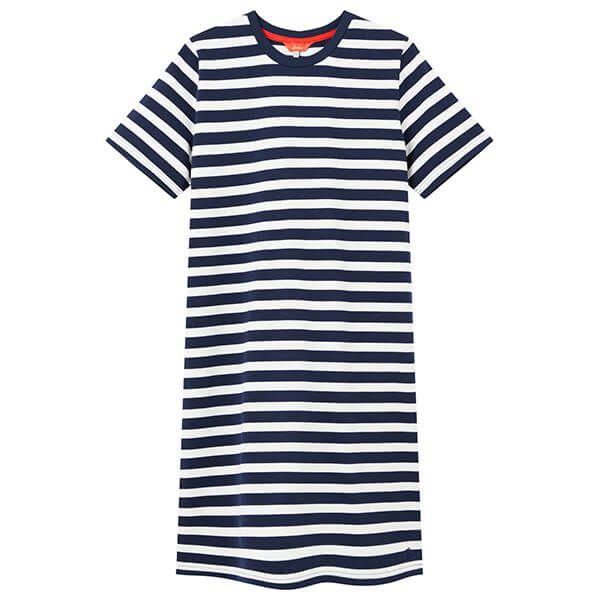 Joules French Navy White Stripe Liberty A Line Jersey Dress