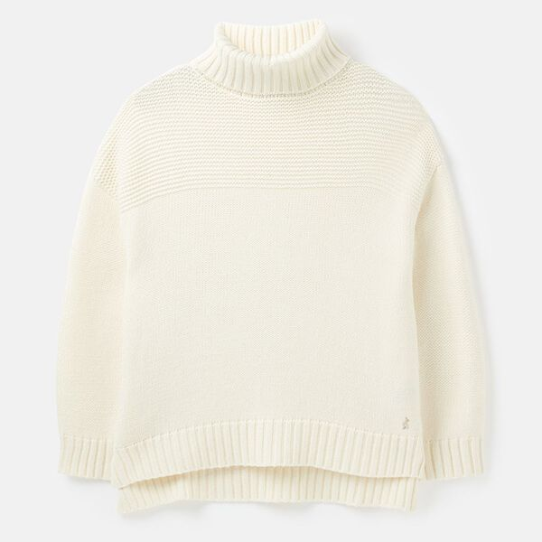 Joules Cream Anwen Roll Neck Jumper