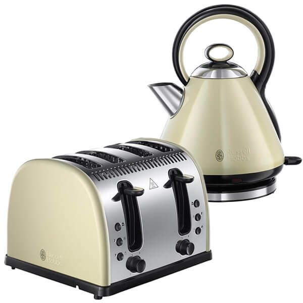 Russell Hobbs Legacy Kettle & Toaster Set Cream