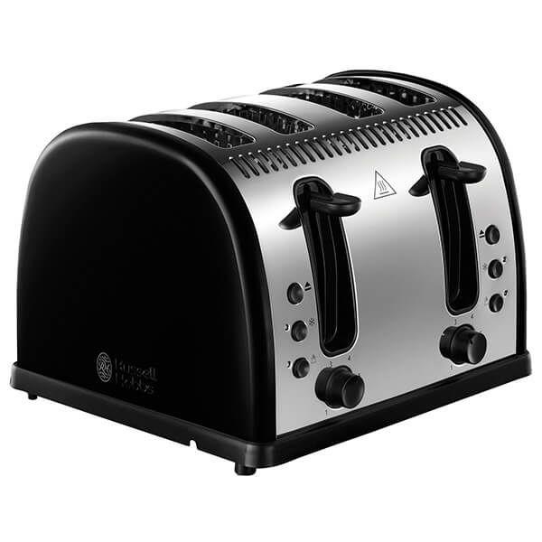 Russell Hobbs Legacy 4 Slice Toaster Black
