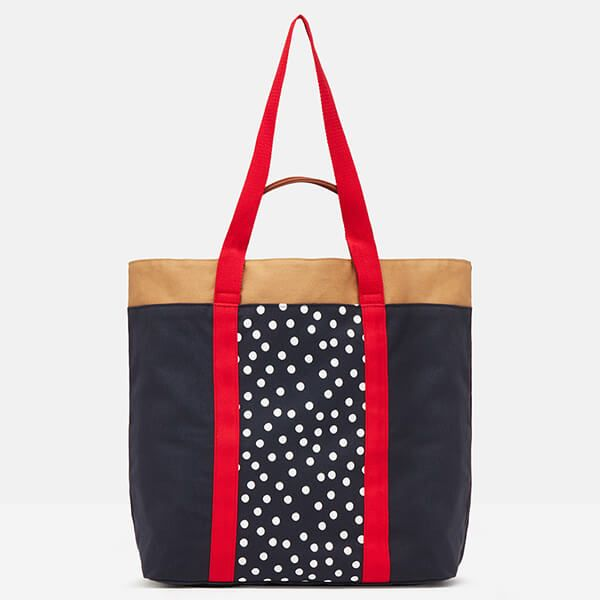 Joules Sand Zoe Canvas Tote