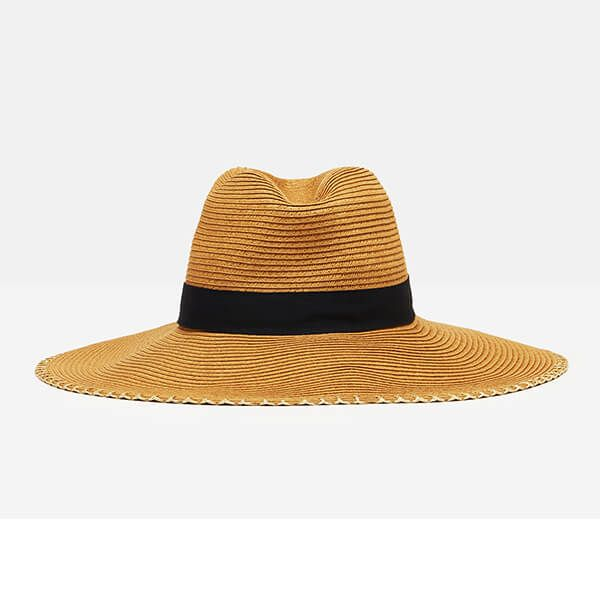 Joules French Navy Sia Wide Fedora Hat