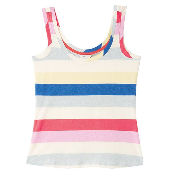Joules Cream Stripe Annika Stripe Scoop Neck Jersey Vest