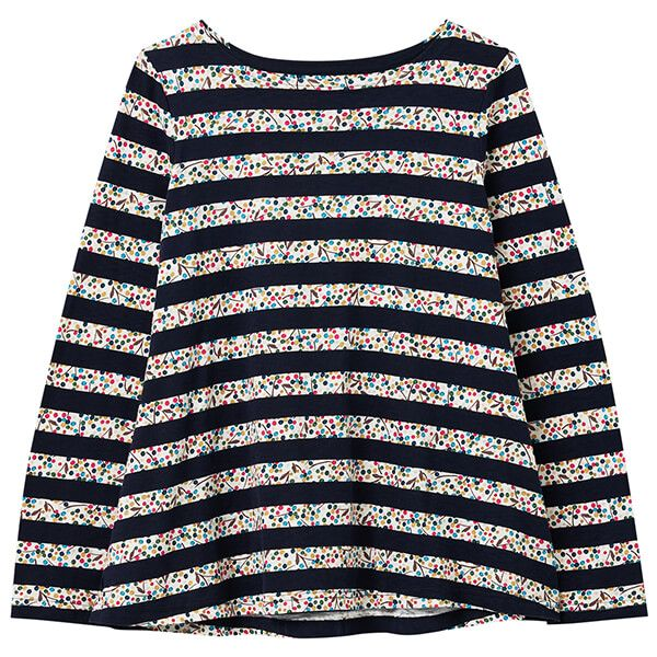 Joules Navy Ditsy Floral Harbour Light Swing Long Sleeve Top