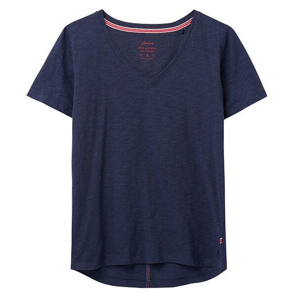 Joules French Navy Celina V Neck T-Shirt