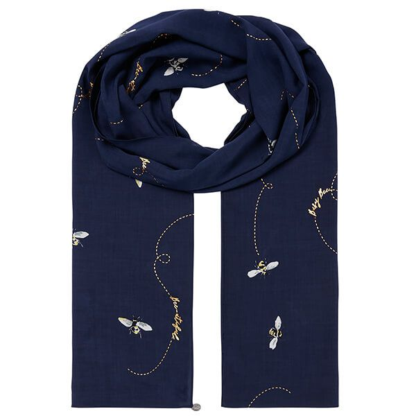 Joules Navy Bee Conway Scarf