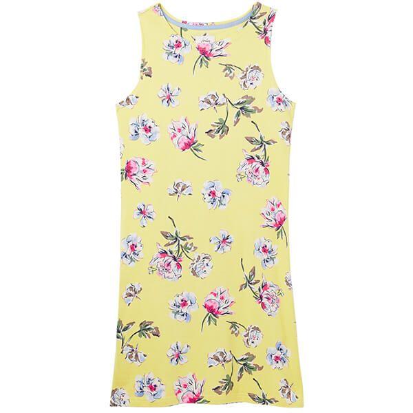 Joules Lemon Floral Riva Sleeveless Jersey Dress