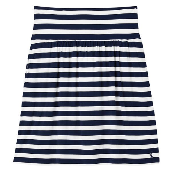 Joules Navy Cream Stripe Tayla Jersey Skirt