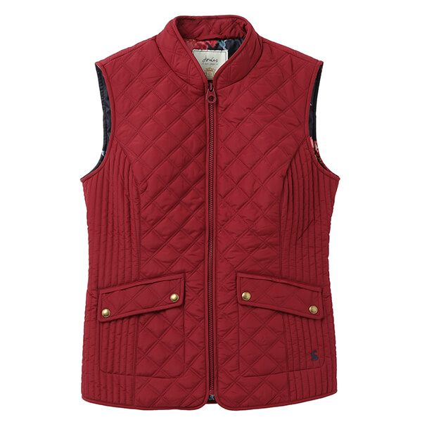 Joules Burgundy Minx Quilted Gilet