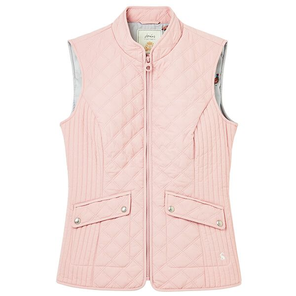 Joules Pink Minx Quilted Gilet