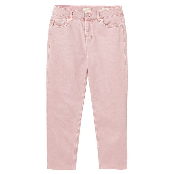 Joules Pink Etta Cropped Straight Leg Jeans