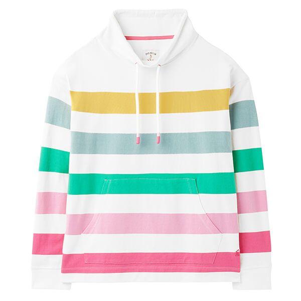 Joules Multi Stripe Harlton Funnel Neck Sweatshirt