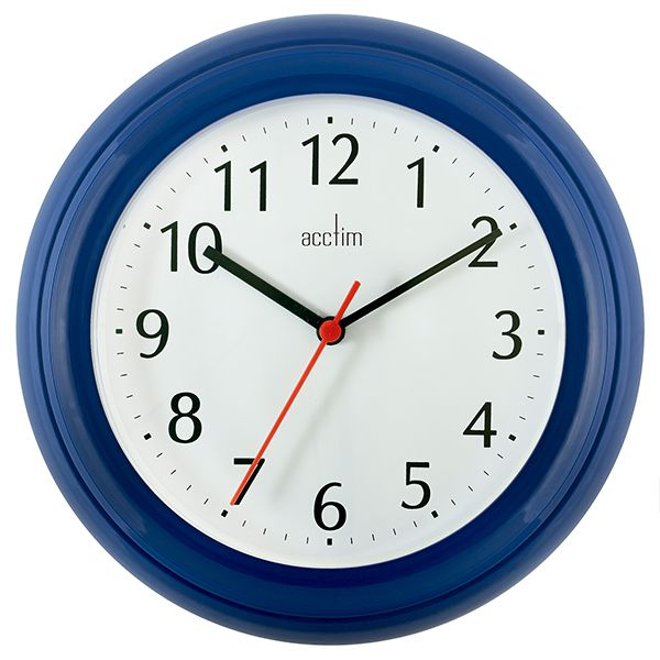 Acctim Wycombe Wall Clock Blue