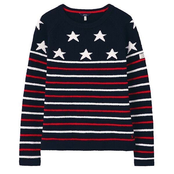 Joules Navy Star Seaport Chenille Jumper