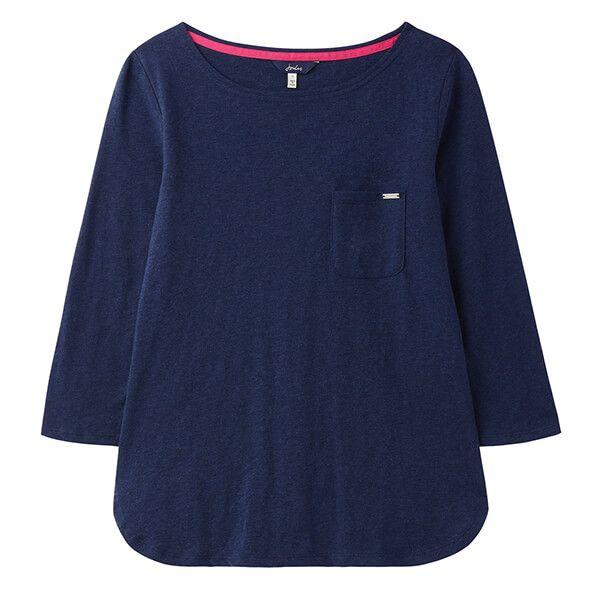 Joules Navy Marl Melissa 3/4 Sleeve Pyjama Top