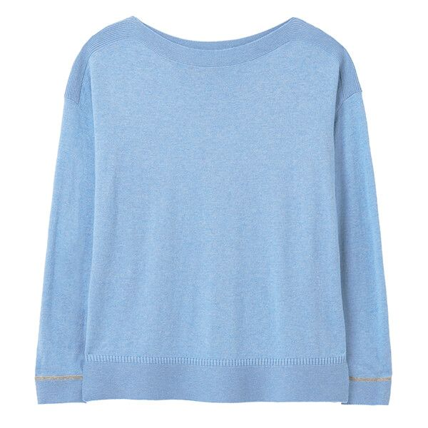 Joules Blue Vivianna Slash Neck Jumper