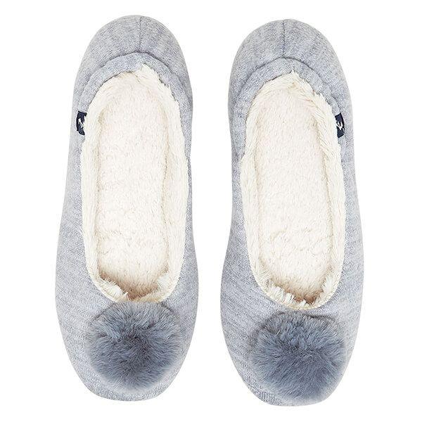 Joules Blue Pombury Ballet Slippers