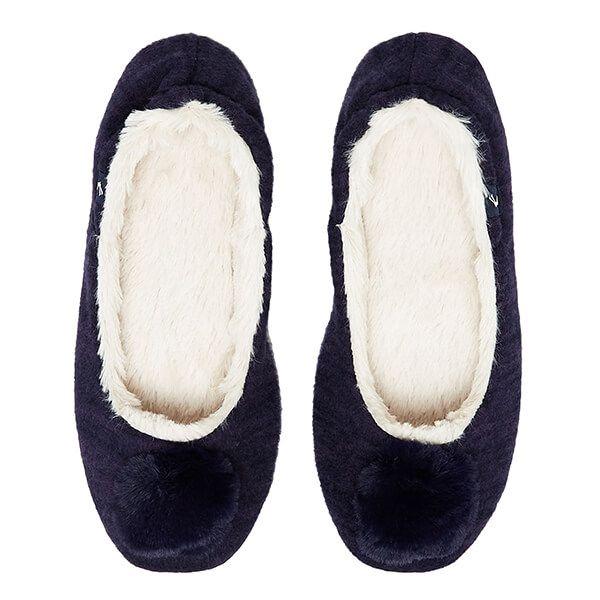 Joules Navy Pombury Ballet Slippers