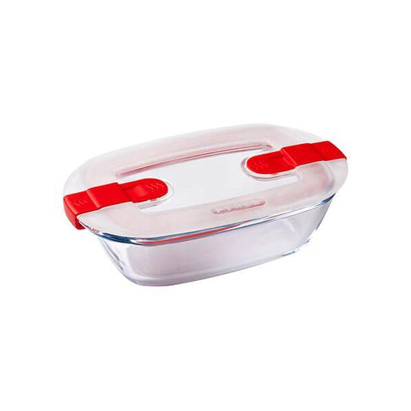 Pyrex Cook & Heat 350ml Rectangular Dish With Lid