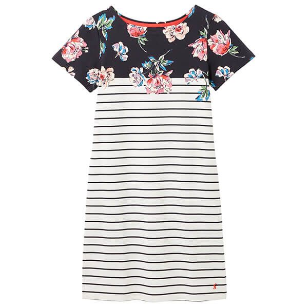Joules Navy Floral Riviera Printed Dress