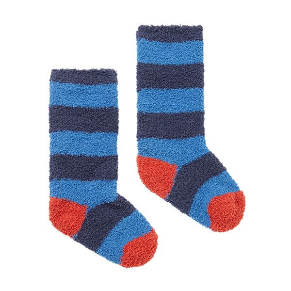 Joules Navy Blue Fluffy Socks