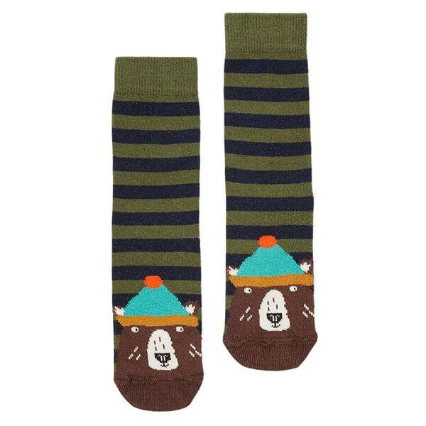 Joules Stripe Bear Eat Feet Socks