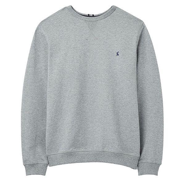Joules Grey Marl Monty Garment Dyed Crew Neck Sweatshirt