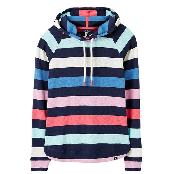Joules French Navy Marlston Stripe Hooded Sweatshirt