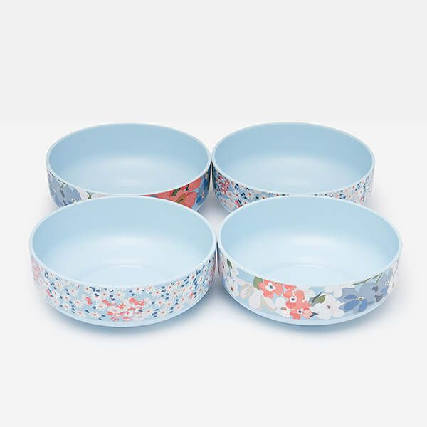 Joules Melamine Outdoor Dining Cereal Bowls Set Of 4
