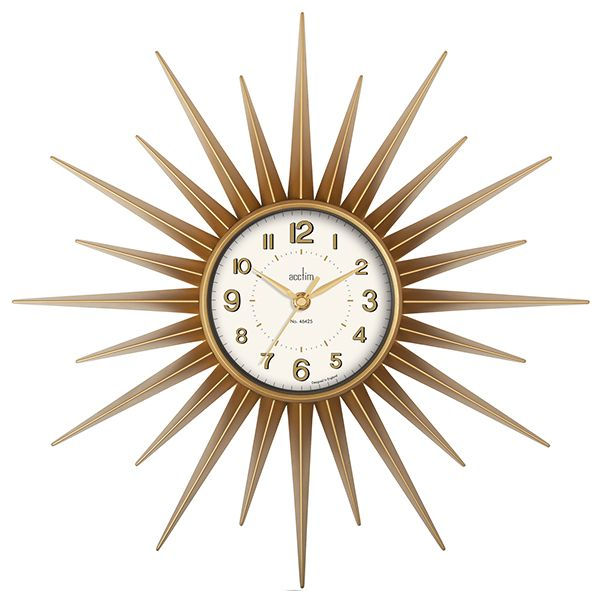 Acctim Stella Wall Clock Sprayed Gold