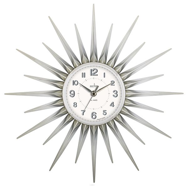 Acctim Stella Wall Clock Chrome