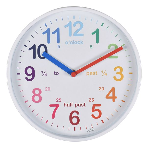 Acctim Wickford Kids Wall Clock White
