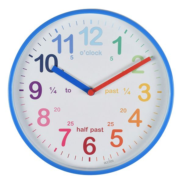 Acctim Wickford Kids Wall Clock Blue