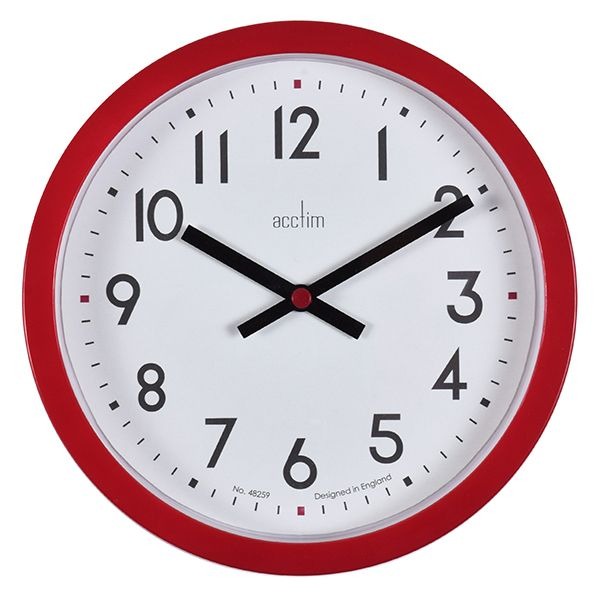 Acctim Radon Wall Clock Red