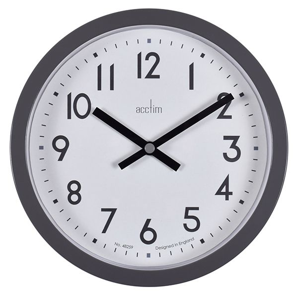 Acctim Radon Wall Clock Aston Grey
