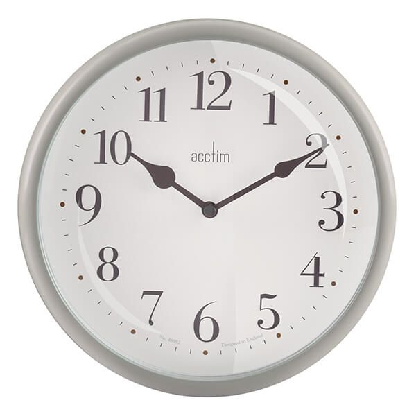 Acctim Aldbury Wall Clock Grey Owl