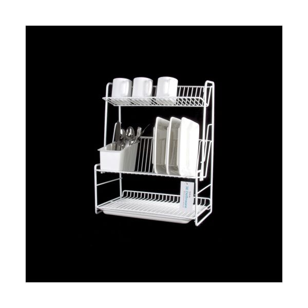 Delfinware Wireware White 3 Tier Plate Rack