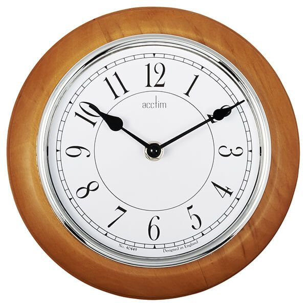 Acctim Newton Wall Clock Natural
