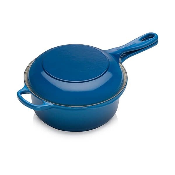 Le Creuset Signature Marseille Blue Cast Iron 22cm 2-in-1 Pan