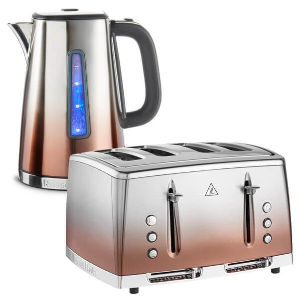 Russell Hobbs Eclipse Copper Kettle & Toaster Set