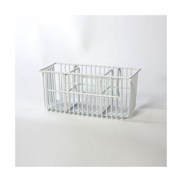 Delfinware Wireware White Cutlery Basket