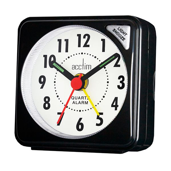 Acctim Ingot Alarm Clock Black