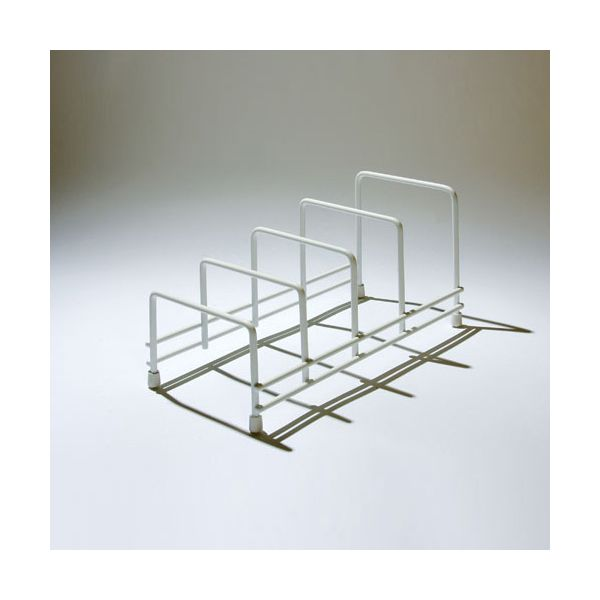 Delfinware Wireware White Plate Storage Rack