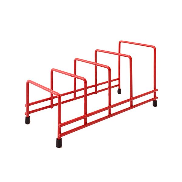 Delfinware Wireware Red Plate Storage Rack