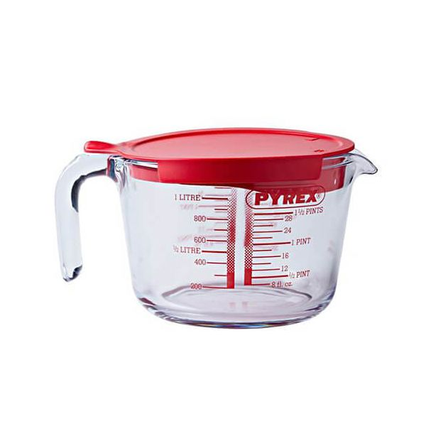 Pyrex Classic 1.0L Measuring Jug With Lid